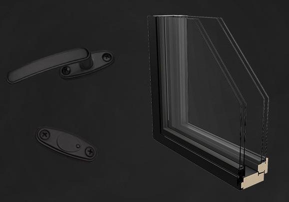 musta sisustus voi sisältää myös mustat ikkunat