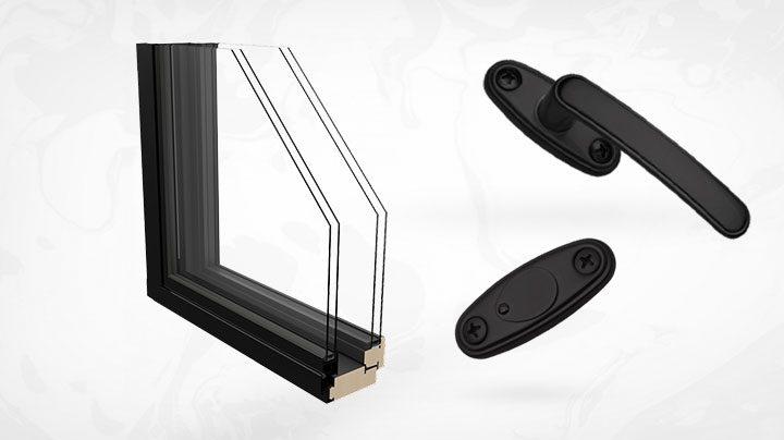 mustat ikkunat tuovat kontrastia sisustukseen
