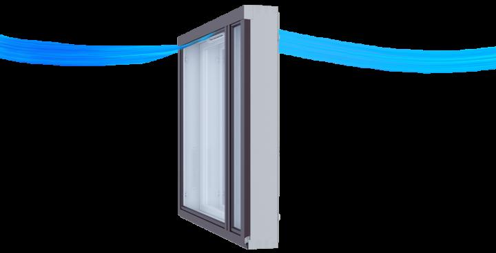 KLIK on helppokäyttöinen raitisilmaventtiili ikkunaan.