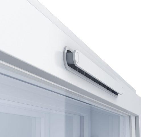 KLIK on tyylikäs ja käytännöllinen raitisilmaventtiili, joka asennetaan Tiivin ikkunoihin jo tehtaalla.