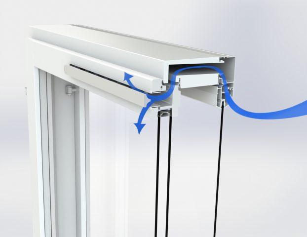 KLIK S on raitisilmaventiili ikkunoihin painovoimaisen ilmanvaihdon kohteisiin.