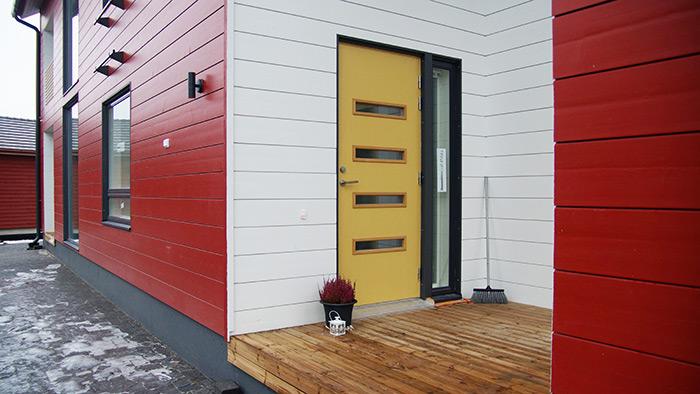 Seinäjoen asuntomessut Villa Roihu pääsisäänkäynti ulko-ovi